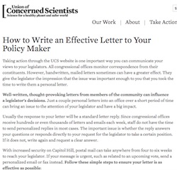 Tips on Writing a Letter - US Climate and Health Alliance